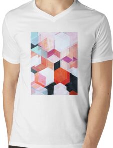 White Paint and Some Colors Mens V-Neck T-Shirt