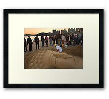 Sand Buddha - Busan, South Korea Framed Print