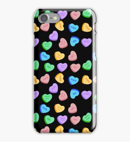 NO - Unhappy Valentines day repeating pattern iPhone Case/Skin