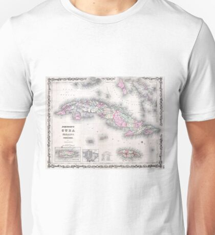 Vintage Map of Cuba (1861) Unisex T-Shirt