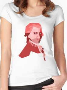 Mozart (Low Poly Art) Women's Fitted Scoop T-Shirt