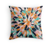 Paint Bursts Throw Pillow