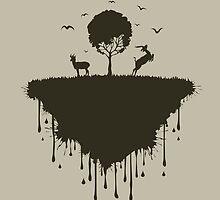 Island of deer by Aleksander1