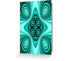 Abstract blue swirl cell phone case Greeting Card