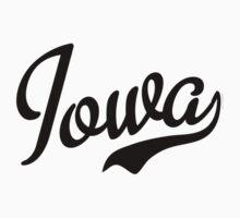 Iowa Script Black Kids Clothes