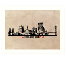 Lisbon elegant skyline Art Print