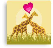 Love a giraffe Canvas Print
