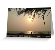 Worldly Sunset upon the people By Emily Stanley Greeting Card