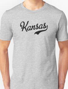 Kansas Script Black T-Shirt