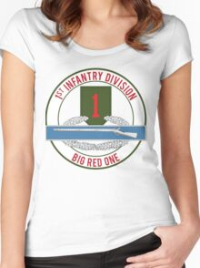 1st Infantry CIB Big Red One Women's Fitted Scoop T-Shirt