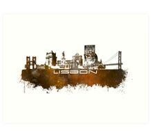 Lisbon brown art Art Print
