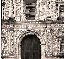 Cathedral Door - Quetzaltenango (Xela), Guatemala by Alex Zuccarelli