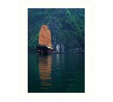 Cove Vessel - Halong Bay, Vietnam Art Print