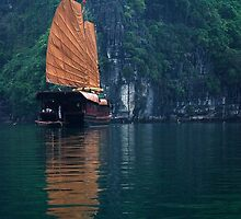Cove Vessel - Halong Bay, Vietnam by Alex Zuccarelli