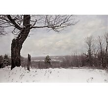 Hitching Post Under a Painted Sky Photographic Print