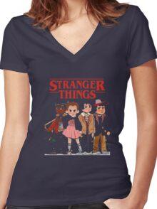 Stranger Than Things Tee T-Shirt Women's Fitted V-Neck T-Shirt