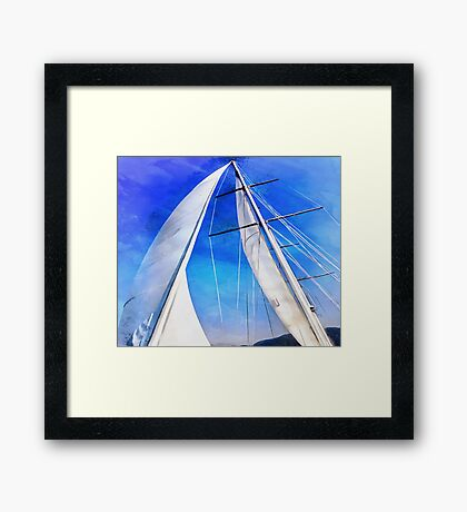 Sailing Unties The Knots Of My Mind Framed Print