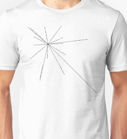 Voyager Spacecraft Golden Record - Pulsar Map Unisex T-Shirt