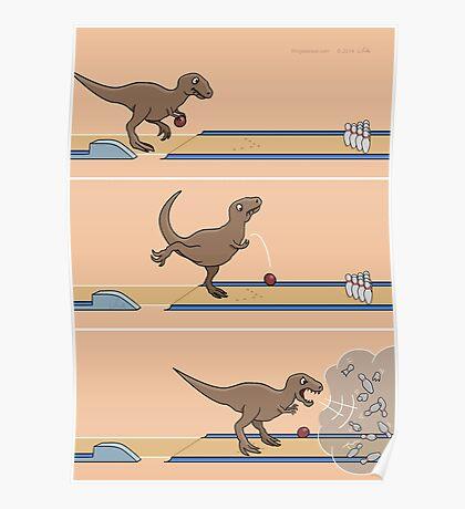 Tyrannosaurus Rex - Bowling Kingpin Poster