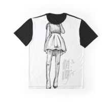 Sketch of fashion girl by MrN Graphic T-Shirt