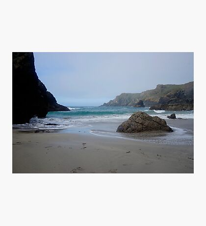 Blue Waves at Kynance Cove Photographic Print