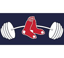 Red Sox barbell shirt Photographic Print