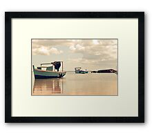 Serenity lake Framed Print