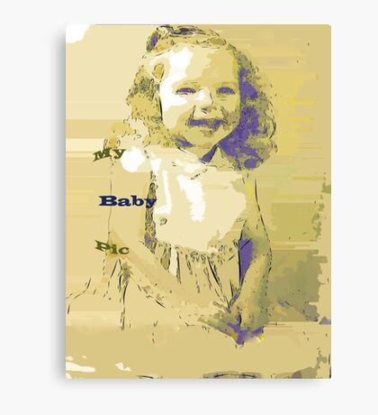 Sketch art of a tyke Canvas Print