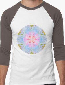 Pastel Beige Mandala Tie Dye  Men's Baseball ¾ T-Shirt