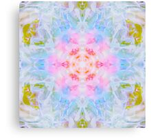 Pastel Beige Mandala Tie Dye  Canvas Print