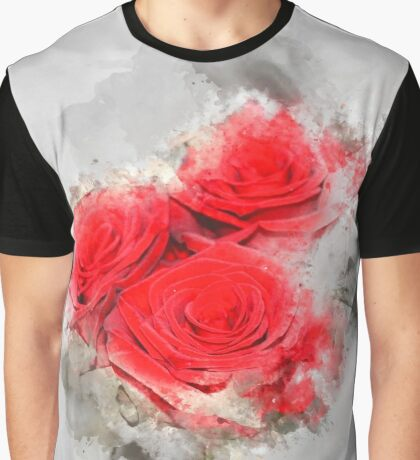 Abstract watercolour rose Graphic T-Shirt