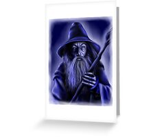 Blue Wizard Greeting Card