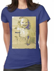 Sketch art of a tyke Womens Fitted T-Shirt