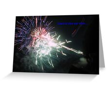 Electric like our love Greeting Card