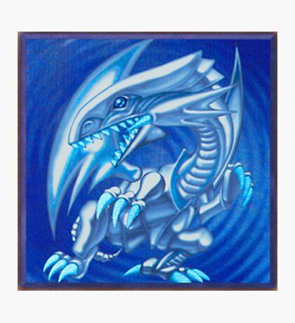 Blue eyes white dragon Photographic Print