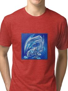 Blue eyes white dragon Tri-blend T-Shirt