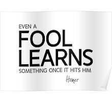 even a fool learns - homer Poster