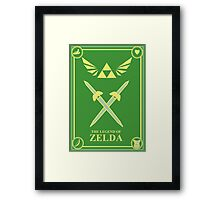 Triforce Wings Framed Print