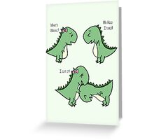 Itchy Head Dinos!  Greeting Card
