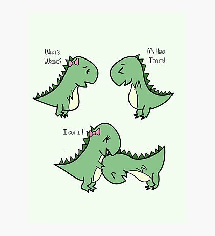 Itchy Head Dinos!  Photographic Print