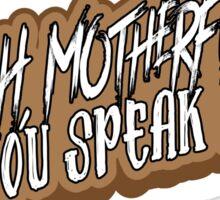 English Motherfucker! Sticker