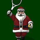 Santa Claus Playing Tennis by Mythos57