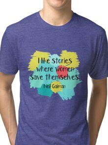 Neil Gaiman (feminist at heart) Tri-blend T-Shirt