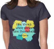 Neil Gaiman (feminist at heart) Womens Fitted T-Shirt