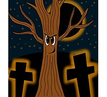 Halloween - evil tree Photographic Print