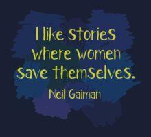Neil Gaiman (feminist at heart) Dark One Piece - Short Sleeve