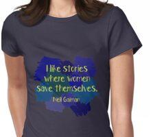 Neil Gaiman (feminist at heart) Dark Womens Fitted T-Shirt