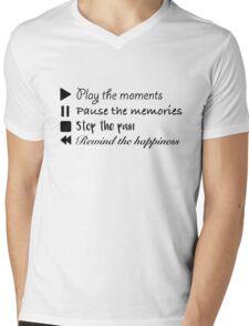 Music Life Quote Mens V-Neck T-Shirt