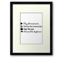 Music Life Quote Framed Print