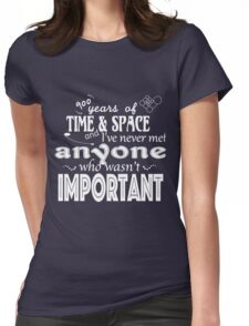 900 Years of Time and Space Womens Fitted T-Shirt